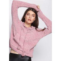 Różowy Sweter Erratic. Szare swetry klasyczne damskie marki Reserved, m, z kapturem. Za 89,99 zł.