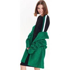 SUKIENKA DAMSKA GŁADKA. Zielone sukienki balowe Top Secret, na jesień, dopasowane. Za 89,99 zł.
