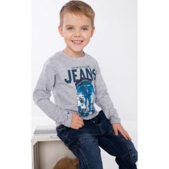 Jasnoszara bluza chłopięca NDZ9049. Szare t-shirty chłopięce marki Fasardi. Za 39,00 zł.