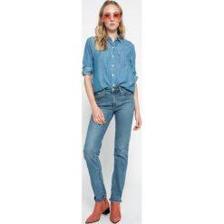 Levi's - Jeansy 712. Brązowe jeansy damskie rurki marki Levi's®, z aplikacjami, z denimu. W wyprzedaży za 239,90 zł.