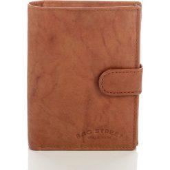 Portfele męskie: Skórzany portfel męski Bag Street Brąz
