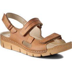 Rzymianki damskie: Sandały HELIOS – 690 J. Brąz