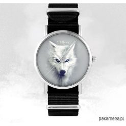 Zegarek - Biały wilk - czarny, nato. Białe zegarki męskie Pakamera. Za 129,00 zł.