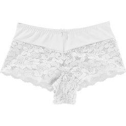 """Figi """"maxi panty"""" bonprix biały. Białe figi marki Andrea Hedenstedt x NA-KD, z nadrukiem, z bawełny. Za 34,99 zł."""