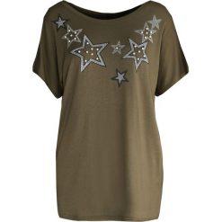 Ciemnozielony T-shirt Stellar. Zielone t-shirty damskie marki Born2be, xl. Za 39,99 zł.