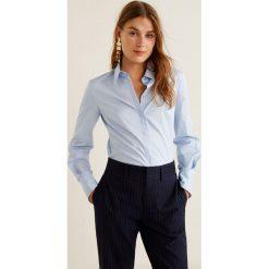 Mango - Koszula Santi2. Szare koszule wiązane damskie Mango, l, z bawełny, klasyczne, z klasycznym kołnierzykiem, z długim rękawem. Za 89,90 zł.