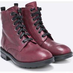 Tamaris - Botki. Brązowe buty zimowe damskie Tamaris, z materiału, na obcasie. W wyprzedaży za 219,90 zł.