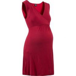 Bielizna ciążowa: Koszula nocna do karmienia z wiskozy bonprix ciemnoczerwony