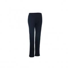 Spodnie dresowe Gym & Pilates damskie. Czarne bryczesy damskie marki KIPSTA, l, z bawełny, na fitness i siłownię. Za 39,99 zł.