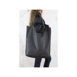 Mega Shopper bag grafitowa torba oversize Vegan. Szare shopper bag damskie Hairoo, w paski. Za 185,00 zł.