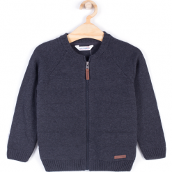 Sweter. Szare swetry chłopięce BOO, z bawełny. Za 39,90 zł.