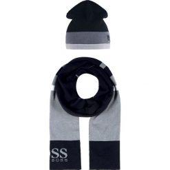 BOSS ATHLEISURE GIFT SET Szal black. Niebieskie szaliki męskie marki BOSS Athleisure, m. Za 549,00 zł.