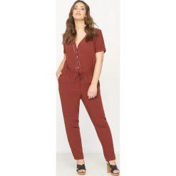 Kombinezony damskie: Kombinezon spodnie, krótki rękaw