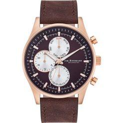 """Biżuteria i zegarki męskie: Zegarek kwarcowy """"Ansgar"""" w kolorze brązowo-różowozłotym"""
