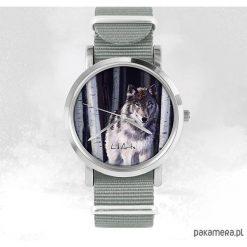 Zegarki damskie: Zegarek - Szary wilk - szary, nato