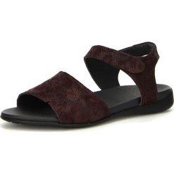 """Rzymianki damskie: Skórzane sandały """"Jaeh"""" w kolorze ciemnoczerwonym"""