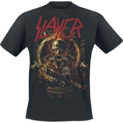 Slayer Comic Book Cover T-Shirt czarny. Czarne t-shirty męskie z nadrukiem Slayer, xl, z dekoltem na plecach. Za 89,90 zł.