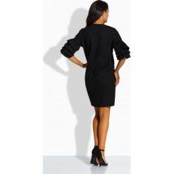 Luźna sukienka w stylu hiszpańskim czarna BRIANNA. Czarne sukienki balowe Lemoniade, na imprezę, na lato, z bawełny, z falbankami, proste. Za 109,00 zł.