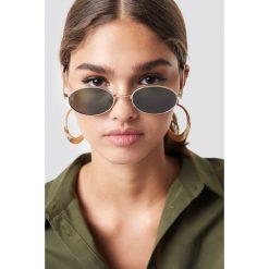 MANGO Okulary przeciwsłoneczne Tess - Black,Gold. Czarne okulary przeciwsłoneczne damskie aviatory Mango, okrągłe. Za 80,95 zł.