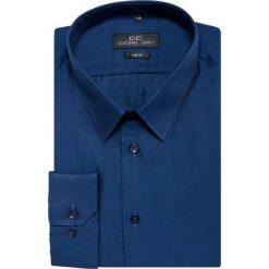 Koszula SIMONE KDGS000199. Niebieskie koszule męskie na spinki marki bonprix, m, z nadrukiem, z klasycznym kołnierzykiem, z długim rękawem. Za 149,00 zł.