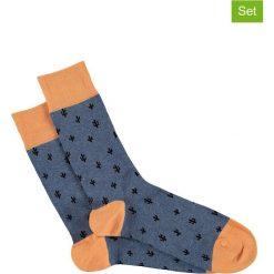 Skarpetki męskie: Skarpety (3 pary) w kolorze pomarańczowo-niebieskim