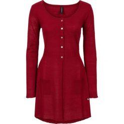 Długi sweter rozpinany bonprix ciemnoczerwony. Szare kardigany damskie marki Mohito, l. Za 59,99 zł.