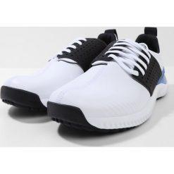 Adidas Golf ADICROSS BOUNCE Obuwie do golfa white/core black/blue. Białe buty sportowe męskie adidas Golf, z materiału, na golfa. Za 479,00 zł.