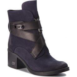 Botki CARINII - B4053 K59-E50-PSK-861. Niebieskie buty zimowe damskie Carinii, z materiału. Za 439,00 zł.