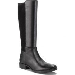 Oficerki GEOX - D Laceyin D D84BFD 05443 C9999 Black. Szare buty zimowe damskie marki Geox, z gumy. W wyprzedaży za 369,00 zł.