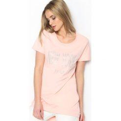 Bluzki asymetryczne: Różowa Tunika Big Apple