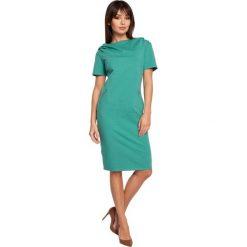 CHER Sukienka z kapturem i zamkami - zielona. Czarne sukienki mini marki Sinsay, l, z kapturem. Za 154,90 zł.