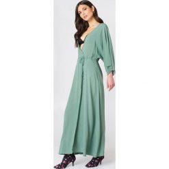 Długie sukienki: NA-KD Boho Sukienka-płaszcz - Green