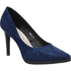 Granatowe szpilki czółenka na platformie Sergio Leone 1466. Czarne buty ślubne damskie marki Sergio Leone, na platformie. Za 108,99 zł.