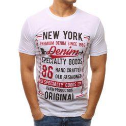 T-shirty męskie z nadrukiem: T-shirt męski z nadrukiem biały (rx2620)
