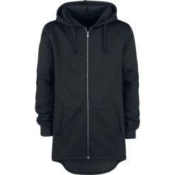 Bluzy męskie: Forplay Vokuhila Sweat Parka Bluza z kapturem rozpinana czarny
