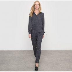 Kombinezony damskie: Spodnie-kombinezon we wzory