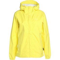 Jack Wolfskin CLOUDBURST WOMEN Kurtka przeciwdeszczowa buttercup. Żółte kurtki damskie przeciwdeszczowe marki Jack Wolfskin, l, z materiału, outdoorowe. W wyprzedaży za 381,75 zł.