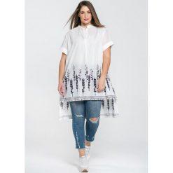 Długie sukienki: Rozkloszowana, długa sukienka z krótkim rękawem
