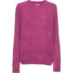 Sweter z szenili bonprix różowy melanż. Czerwone swetry klasyczne damskie marki bonprix. Za 69,99 zł.