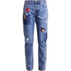 Odzież damska: Love Moschino Jeansy Relaxed Fit blue denim