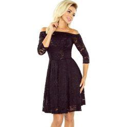 Sukienka koronkowa kontrafałda sf-168-1. Czarne sukienki koktajlowe marki SaF, xl, w koronkowe wzory, z bawełny, rozkloszowane. Za 229,90 zł.