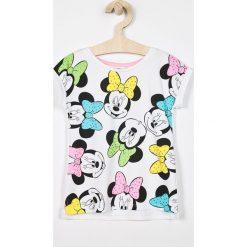 Blukids - Top dziecięcy Disney Mickey Mouse 98-128 cm. Szare bluzki dziewczęce marki Blukids, z motywem z bajki, z bawełny, z okrągłym kołnierzem. Za 49,90 zł.