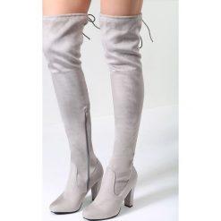 Szare Kozaki Get Enough. Szare buty zimowe damskie vices, z materiału, na obcasie. Za 119,99 zł.