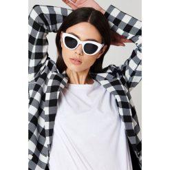 Okulary przeciwsłoneczne damskie aviatory: NA-KD Trend Okulary przeciwsłoneczne kocie oczy - White