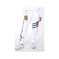 "Spodnie dresowe damskie: WHITE SWEATPANTS ""LUCK IS ON MY SIDE"""