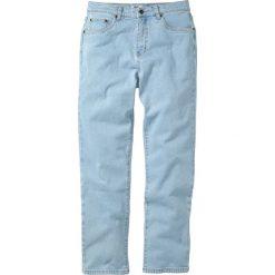 Dżinsy Classic Fit Straight bonprix jasnoniebieski. Niebieskie jeansy męskie regular bonprix. Za 89,99 zł.