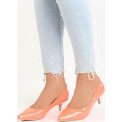 Pomarańczowe Czółenka Complicated. Brązowe buty ślubne damskie Born2be, ze szpiczastym noskiem, na niskim obcasie, na szpilce. Za 59,99 zł.