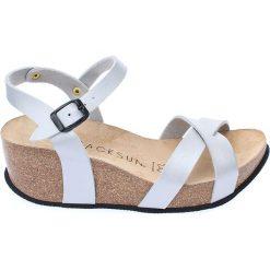 Buty damskie: Sandały w kolorze jasnoszarym