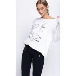 Bluzy damskie: Biała Bluza Let It Out
