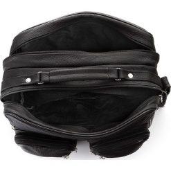 Czarna skórzana męska torba Praktyczna do pracy. Czarne torby na ramię męskie marki Abruzzo, ze skóry. Za 149,00 zł.